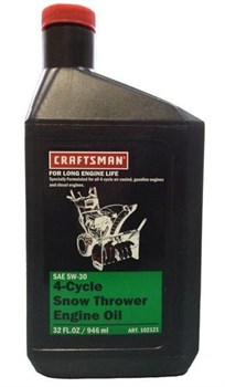 Масло зимнее Craftsman SAE 5W-30 для 4-х тактных двигателей, 0.946л - фото 5700